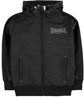 Lonsdale London Kids Boys Poly Marl Zipped Hoody Junior Zip Hoodie Hooded Top Long