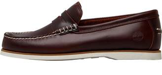 Timberland Mens Classic Boat Penny Loafers Rootbeer