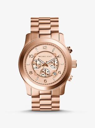 Michael Kors Oversized Runway Rose Gold-Tone Watch