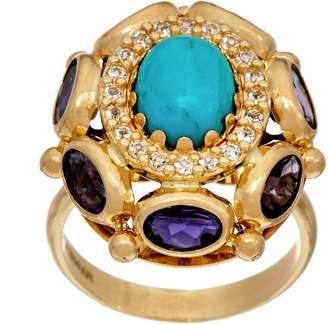 Arte D'oro Arte d'Oro Oval Gemstone Ring 18K Gold