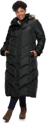 London Fog Tower By Plus Size TOWER by Faux-Fur Long Down Puffer Coat