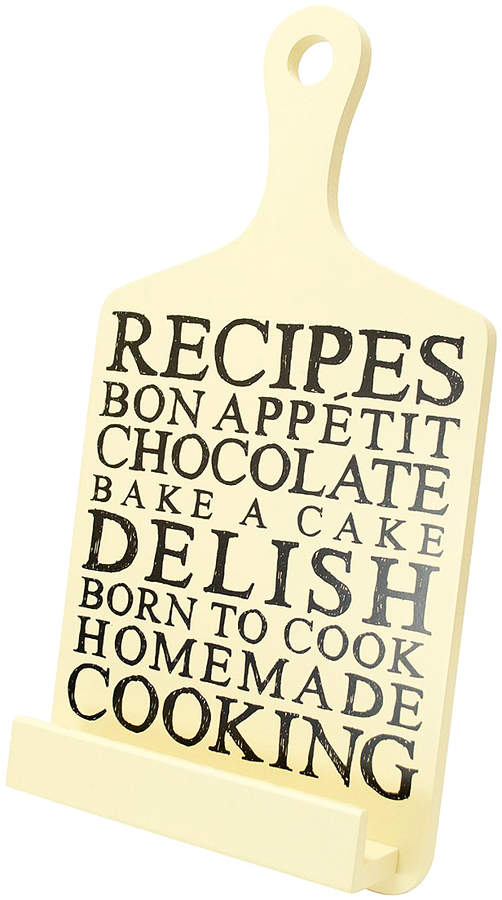 Cream 'Recipes' Tablet Stand