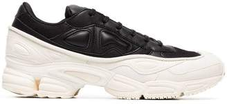 Adidas By Raf Simons white and black Ozweego leather sneakers