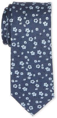 MICHAEL Michael Kors Navy Alexis Botanical Silk Tie