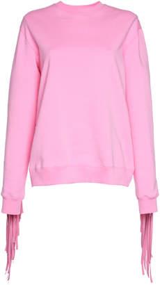 MSGM Fringe Back Sweatshirt