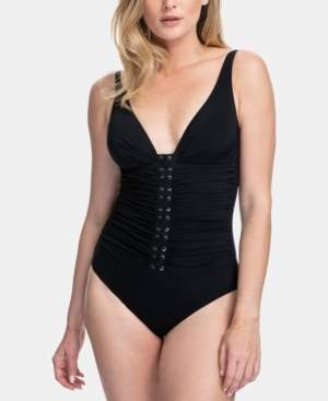 Gottex Moto One Piece Tummy Control Swimsuit, Available in D Cup Women's Swimsuit