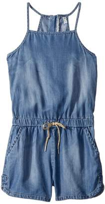 AG Adriano Goldschmied Kids Chambray Zipper Romper Girl's Jumpsuit & Rompers One Piece