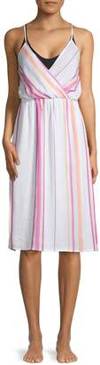 Dolce Vita Wrap Cotton Midi Cover-Up Dress