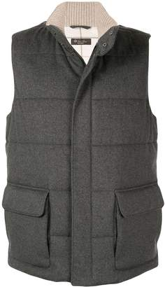 Loro Piana side flap pocket gilet
