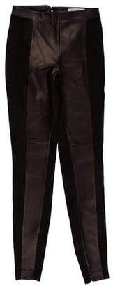 Robert Rodriguez Leather Mid-Rise Pants