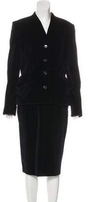 Christian Dior Velvet Skirt Suit