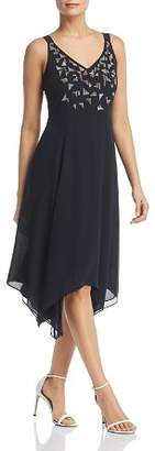 Nic+Zoe Riviera Embroidered Handkerchief-Hem Dress