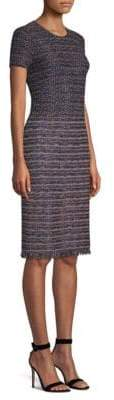 St. John Ombre Ribbon Tweed Sheath Dress