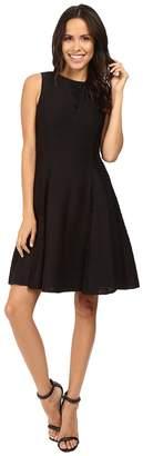 Taylor Corded Knit w/ Lace Inserts Women's Dress