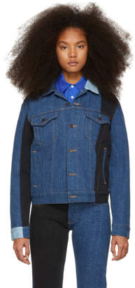 Gosha Rubchinskiy Navy Denim Patchwork Jacket