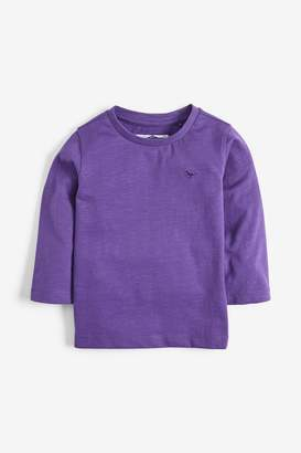 Next Boys Purple Long Sleeve Plain T-Shirt (3mths-7yrs) - Purple