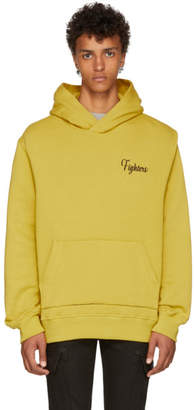 Amiri Yellow Embroidered Fighters Hoodie