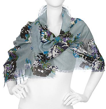 JCPenney Pastel Floral-Print Scarf