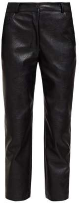 Stella McCartney Hailey Faux Leather Straight Leg Trousers - Womens - Black