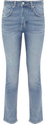 Amo Lover In The Cards Distressed Mid-Rise Slim-Leg Jeans
