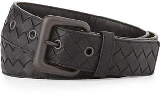 Bottega Veneta Men's Intrecciato Leather Belt