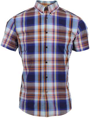 Lords of Harlech - Tim Shirt In Navy Large Plaid