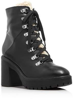 Aqua Women's Roy Faux Fur Platform Ankle Boots - 100% Exclusive