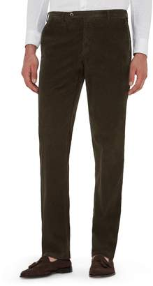 Zanella Curtis Flat Front Stretch Corduroy Cotton Trousers