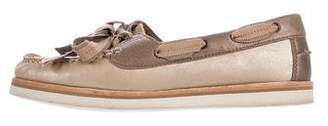 Lanvin Suede Lace-Up Loafers