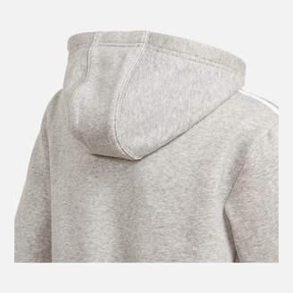 adidas Kids' Grey Full-Zip Hoodie
