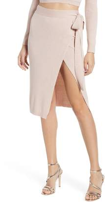 Somedays Lovin First Date Metallic Wrap Skirt