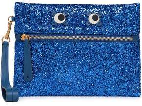 Anya Hindmarch Appliqued Glittered Pvc Clutch