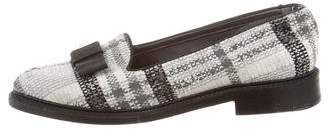 Thom Browne Plaid Bow Loafers