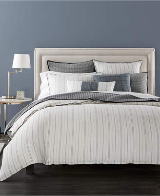 Hotel Collection Closeout! Linen Ticking Stripe Full/Queen Duvet Cover, Created for Macy's Bedding