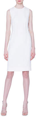 Akris Sleeveless Double-Face Wool Sheath Dress