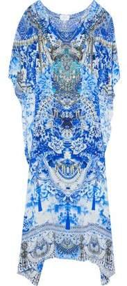 Camilla Embellished Printed Silk Crepe De Chine Kaftan