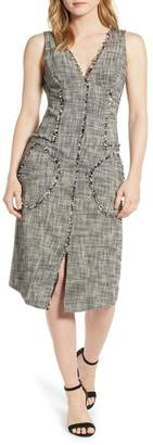 Rachel Roy COLLECTION Raw Edge Tweed Dress