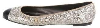 Giuseppe Zanotti Glitter Cap-Toe Flats