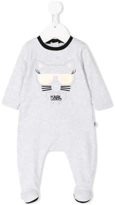 Karl Lagerfeld cat logo print pajamas