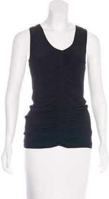 Burberry Ruched Sleeveless Top