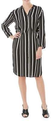 Olsen Striped Shirtdress