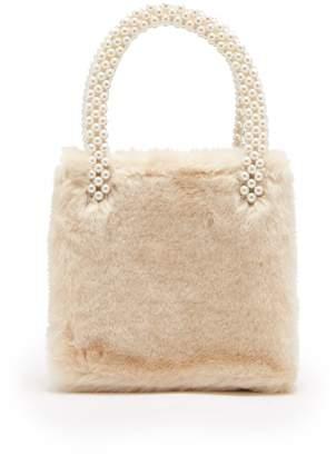 Shrimps - Una Faux Fur Bag - Womens - White