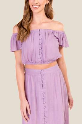 Cecily Off The Shoulder Cover-Up Top - Lavender