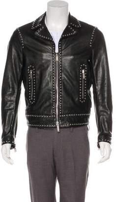 DSQUARED2 2017 Embellished Leather Jacket