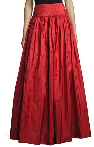 Michael Kors Taffeta Silk Ball Skirt, Crimson
