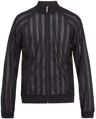 Cottweiler Zip-through pleated-lace track top