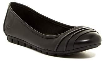 Børn Agnes Pleated Leather Flat