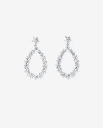 Express Cubic Zirconia Oval Drop Earrings