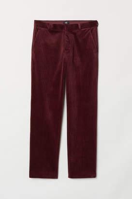 H&M Regular Fit Corduroy Pants - Red