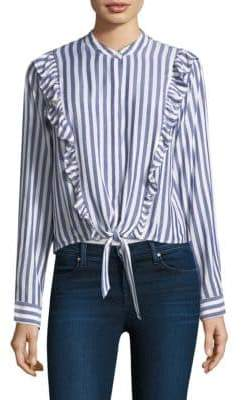 Rails Piper Ruffle Striped Cotton Top
